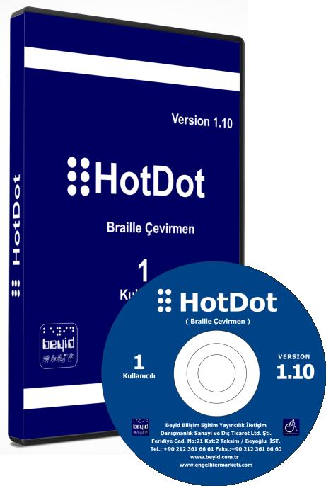 HotDot kabartma yazı/braille çeviri programı