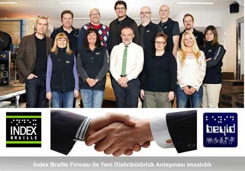 Index Braille Firması ile Yeni Distribütörlük Anlaşması İmzaladık.