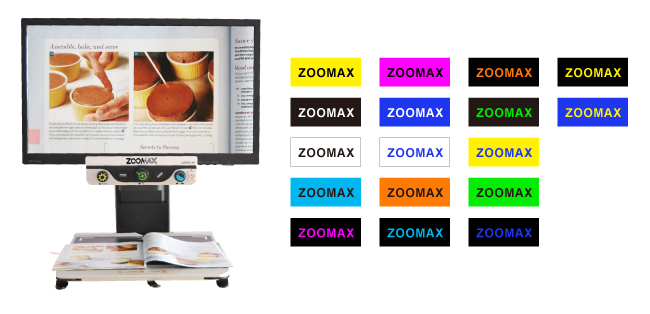 Zoomax-desktop-video-magnifier-Aurora-HD-clear-image-with-high-contrast-color-modes1419489956
